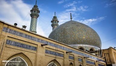 Kum'daki Mescid-i Azam Camisinden Görüntüler