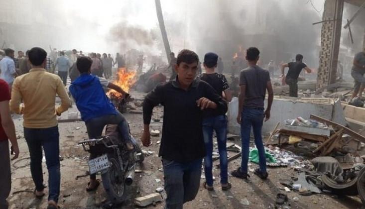 Suriye'de Bomba Yüklü Motosiklet Patladı