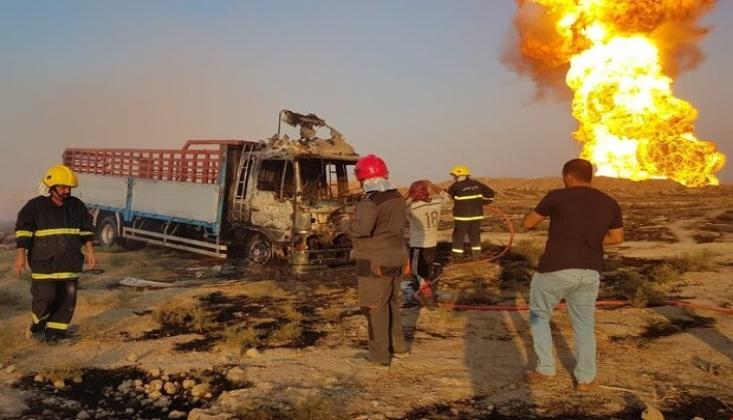 Irak'ta Petrol Boru Hattında Patlama/Video