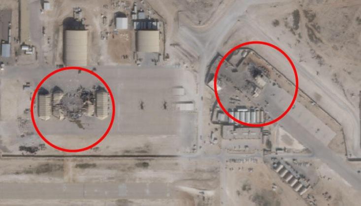 İran'ın Vurduğu Üslerin Uydu Fotoğrafları Yayınlandı/FOTO