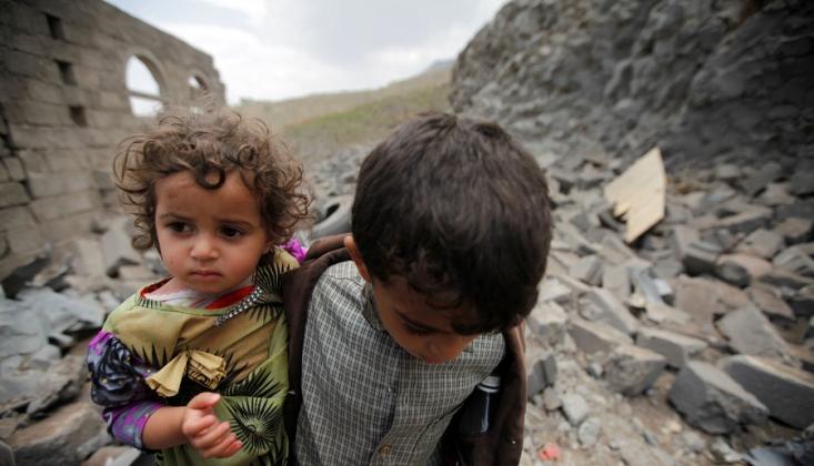 Yemenli Çocuklar Felaketle Karşı Karşıya