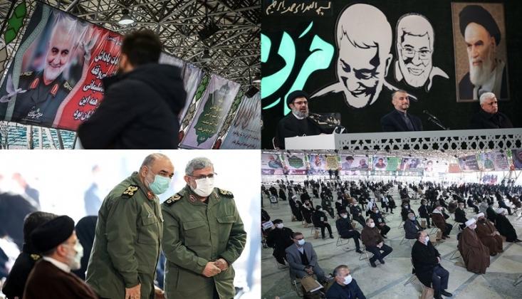 Kasım Süleymani ve El-Mühendis Tahran'da Anıldı