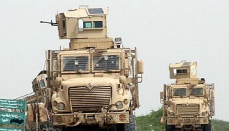 Onlarca Zırhlı Araç Aden'e Giriş Yaptı