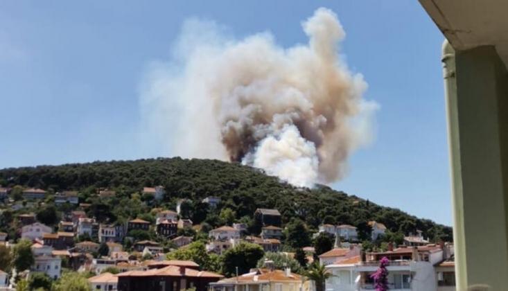 Heybeli Ada'da Yangın