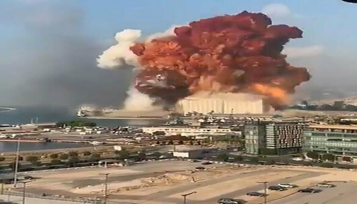 Lübnan'ın Başkenti Beyrut'ta Şiddetli Patlama/Video