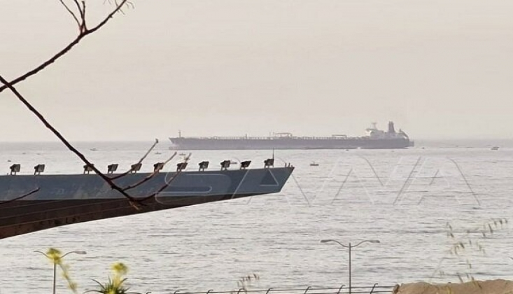 Suriye Limanında Petrol Tankerinde Yangın
