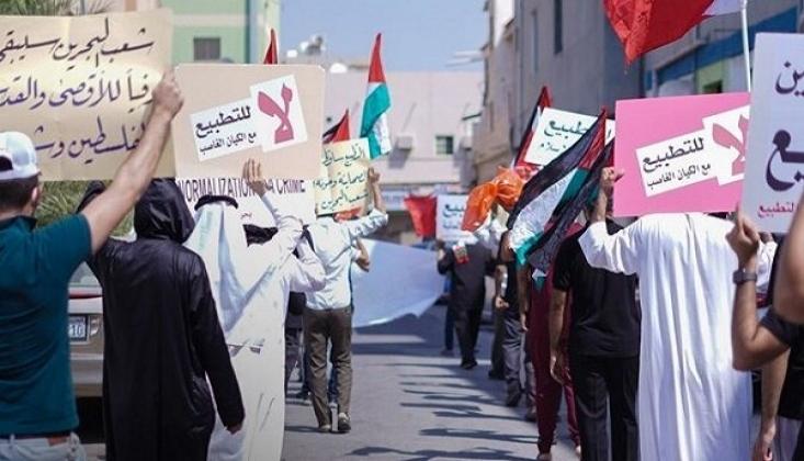 Bahreyn'de İsrail İle Normalleşmeye Karşı Gösteri Düzenlendi
