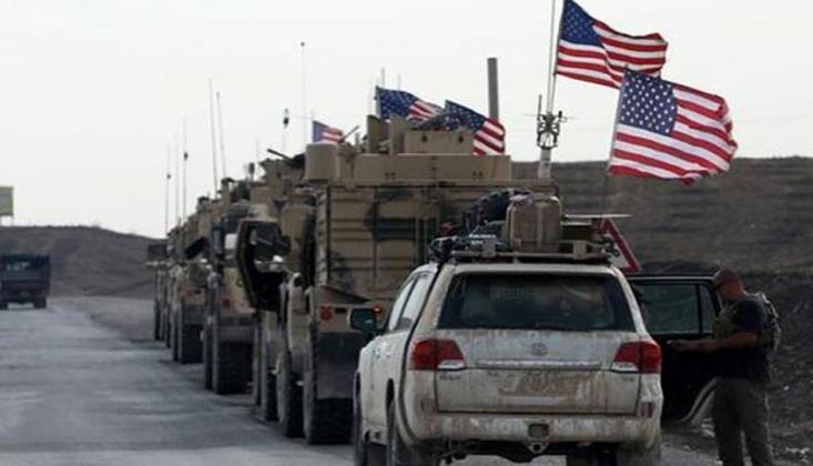 ABD Askeri Teçhizatından Oluşan Bir Konvoy Irak'tan Suriye'ye Geldi