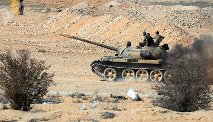 Suriye Birlikleri, Teröristlerin Mevzilerini İmha Etti
