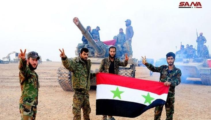 Suriye Ordusu Terör Gruplarının Mevzilerini Ezdi