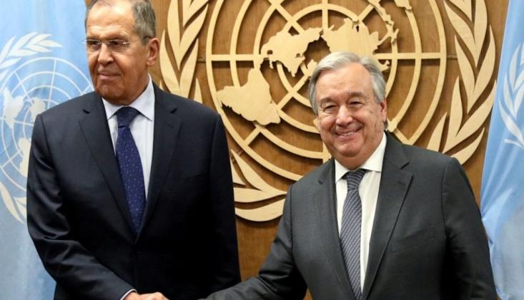 Lavrov ve BM Genel Sekreteri Guterres, Suriye'yi Görüştü