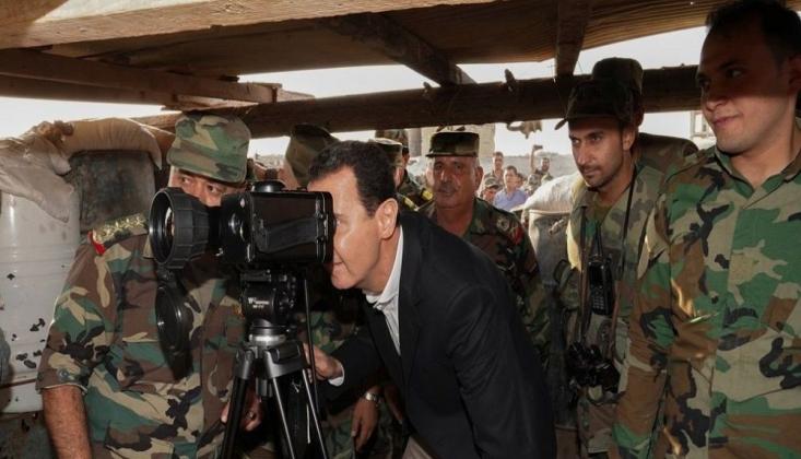 SANA: Esad, İdlib'de Askerleri Ziyaret Etti