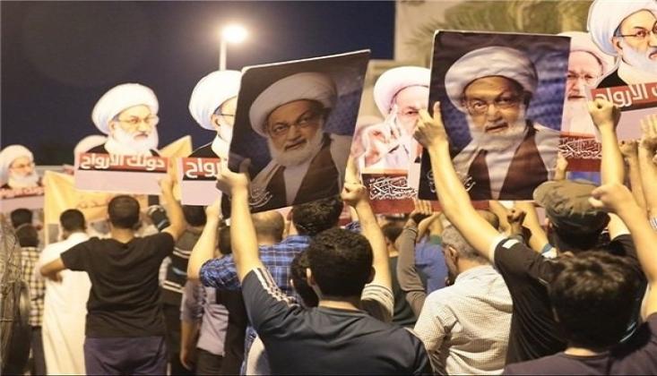 Bahreyn'de Halk Al-i Halife Rejimine Karşı Sokaklara Döküldü