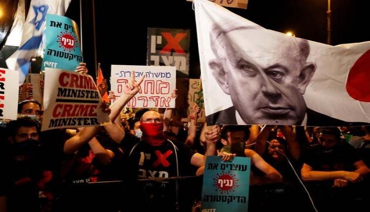 Terör Rejimi İsrail'de Netanyahu Karşıtı Gösteriler Sürüyor
