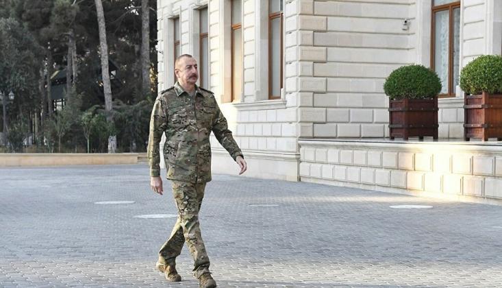 Aliyev, Ermenistan İşgalinden Kurtarılan Karabağ'da