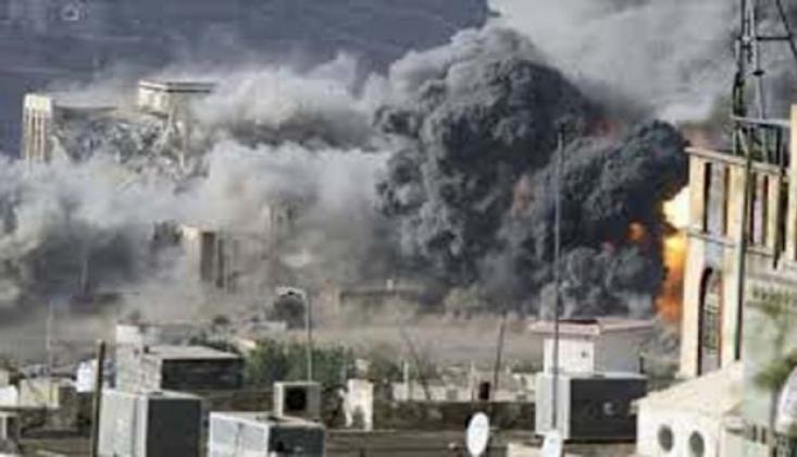 Suudi Savaş Uçakları Sana'yı Bombaladı