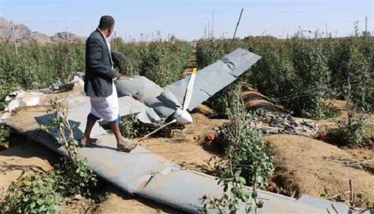 Yemen Hava Savunması, Suud Koalisyonuna Ait Bir Casus İHA'yı Düşürdü