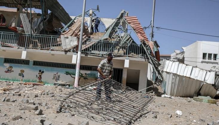 İşgal Rejiminin Saldırılarında Okullar Zarar Gördü