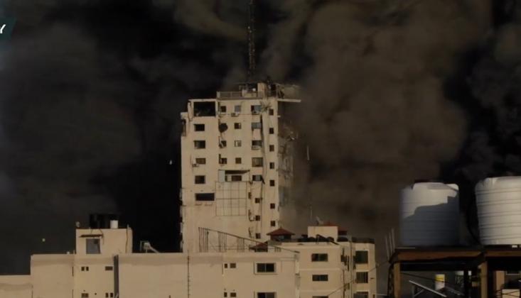 İşgalci Siyonist Rejim Gazze'ye Saldırdı