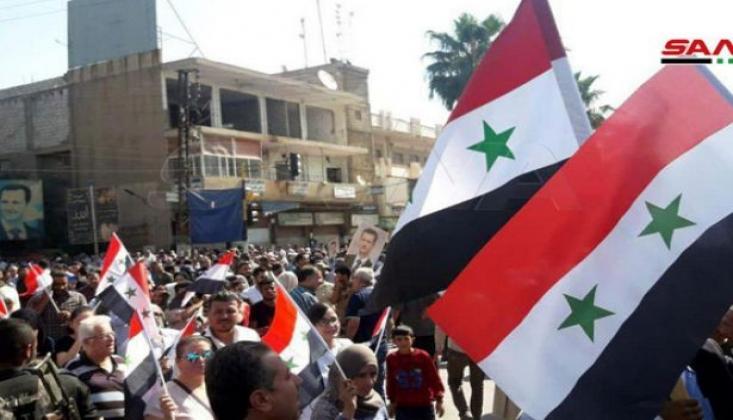 Suriye Halkı ABD'ye Karşı Sokaklara Döküldü