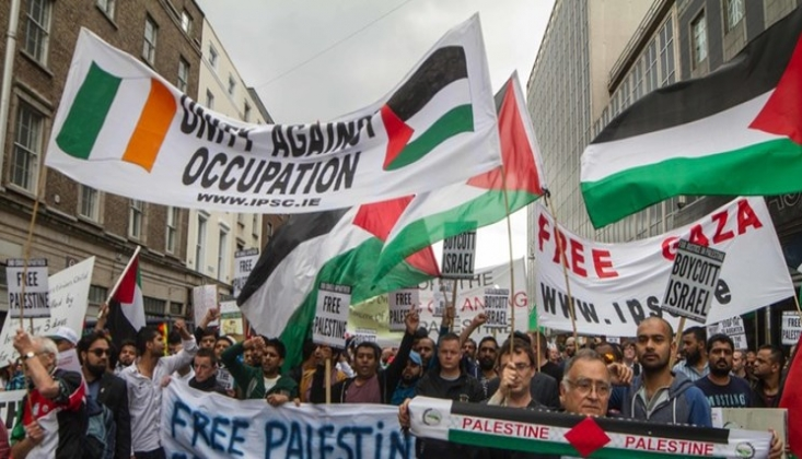Kuzey İrlanda'da İşgal Rejimi İsrail Protestosu Düzenlendi