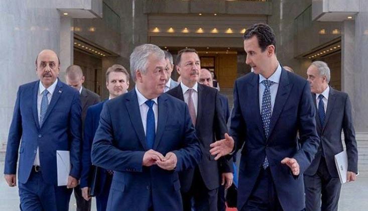Esad, Rus Heyetiyle Ankara'daki Üçlü Zirveyi Görüştü
