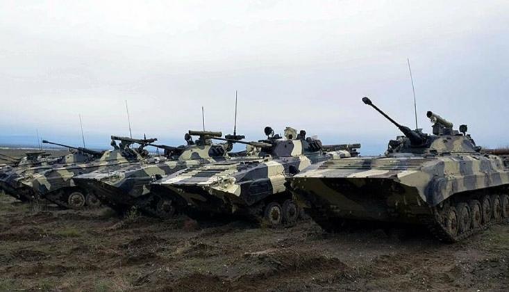 Karabağ'da Ermeni Askeri Konvoyu İmha Edildi