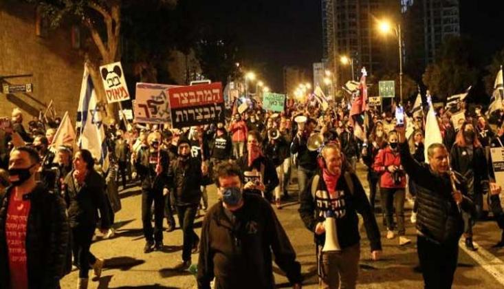 Binlerce İsrailliden Netanyahu Protestosu