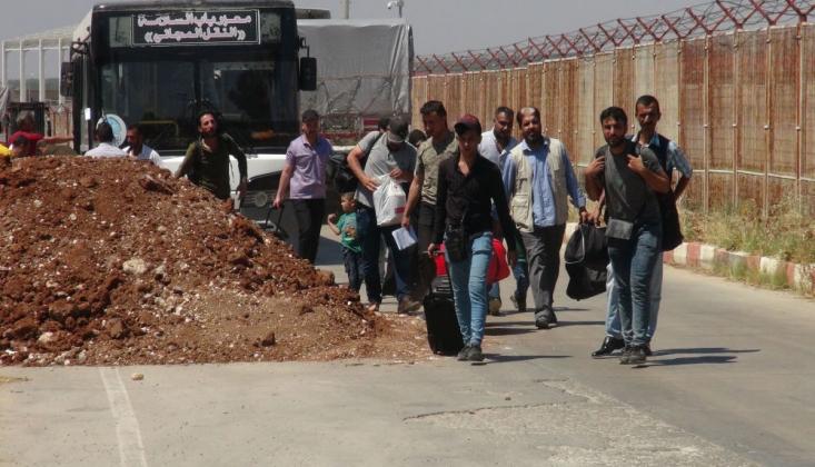 Suriyeliler, Türkiye'ye Dönmeye Başladı