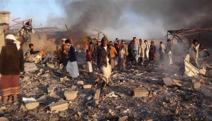 Suudi Koalisyonu Pazar Yerine Saldırdı