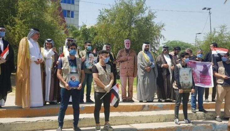 Bağdat'ta Suudi TV Kanalı MBC Protesto Edildi /FOTO