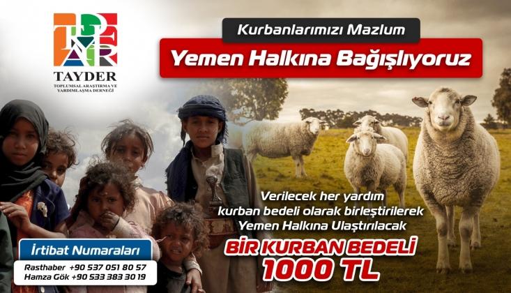 TAYDER'den Yemen'e Kurban Bağışı Çağrısı