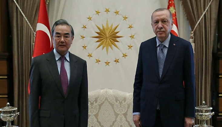 Erdoğan, Çin Dışişleri Bakanı'nı Kabul Etti