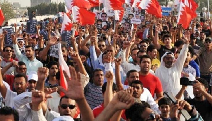 Bahreyn'de Al Halife Rejimine Karşı Gösteriler/Video