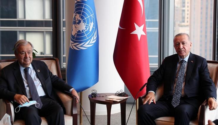 Erdoğan BM Genel Sekreteri İle Görüştü