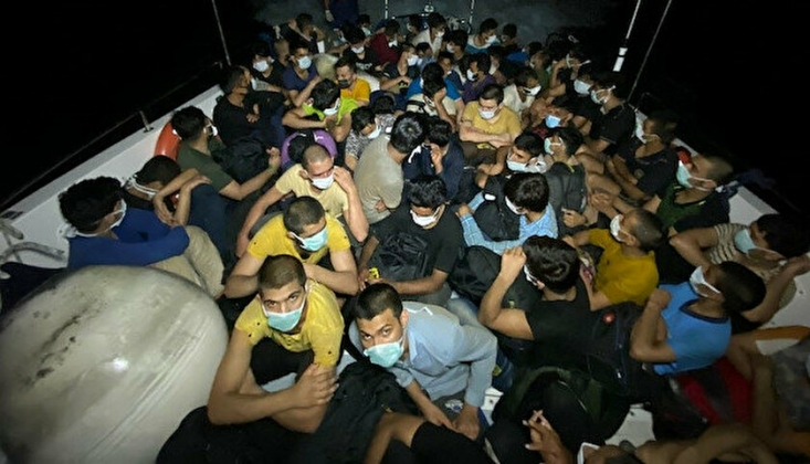Bodrum'da 63 Göçmen Yakalandı