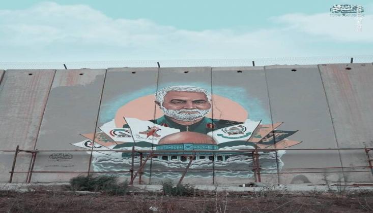 Lübnan Sınırında Kasım Süleymani'nin Muhteşem Tablosu