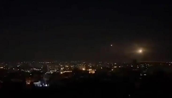 Suriye Hava Savunması Şam'da Hava Saldırısını Püskürttü