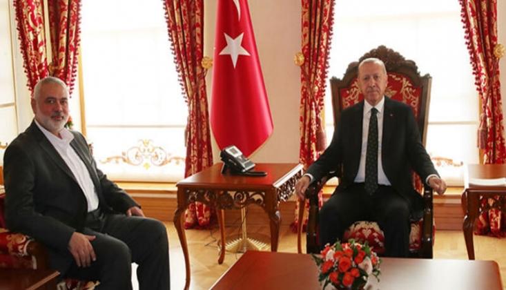 Erdoğan, İsmail Heniyye İle Görüştü
