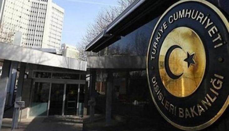 Dışişleri Bakanlığı'ından Ermenistan'a Tepki