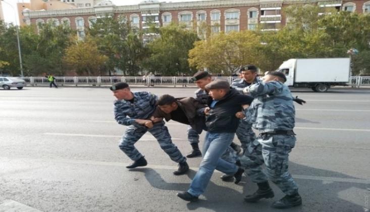 Kazakistan'daki Gösteride 57 Kişi Gözaltına Alındı
