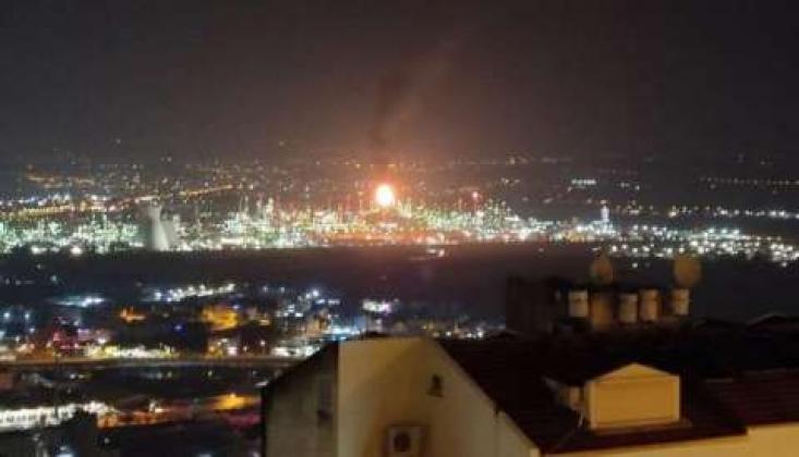 Siyonist Rejimin Rafinerisinde Yangın