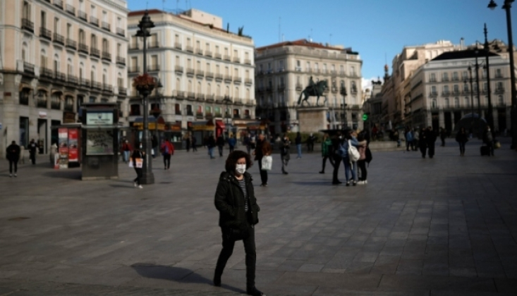 İspanya'da COVID-19'dan Son 24 Saatte 537 Kişi Öldü