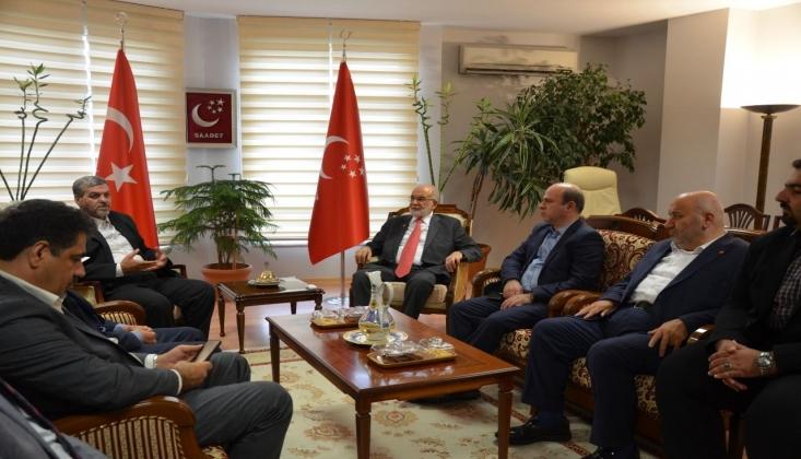 İran Demokrasi Partisi'nden Temel Karamollaoğlu'na Ziyaret