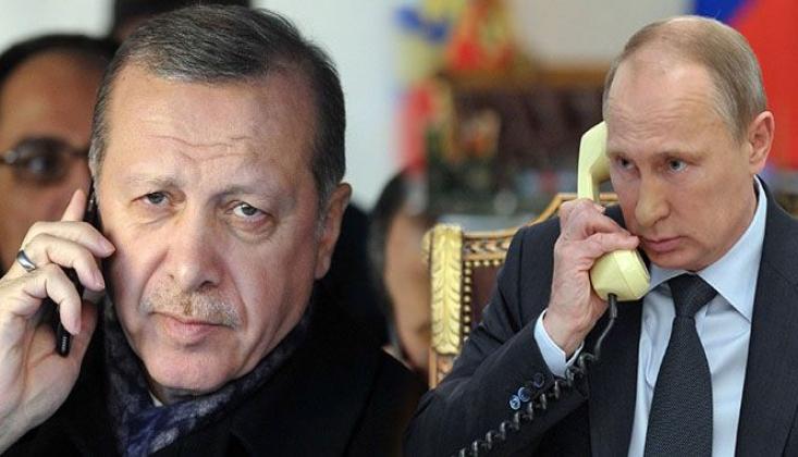 Cumhurbaşkanı Erdoğan ile Putin Görüştü