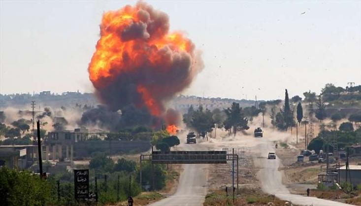 Suriye'de Rus Konvoyun Geçişi Sırasında Patlama