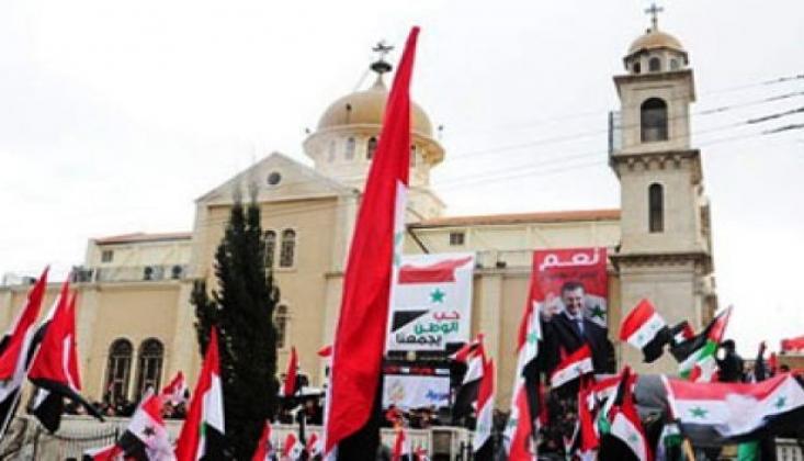 Suriye Hristiyanları Esad'ın Yanında