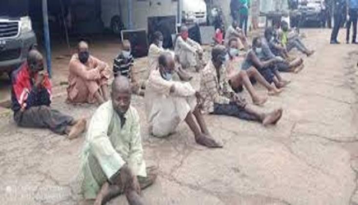 Nijerya'da 217 Silahlı Çete Üyesi Yakalandı