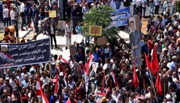 Humus Halkı Amerika Yaptırımlarını Kınadı