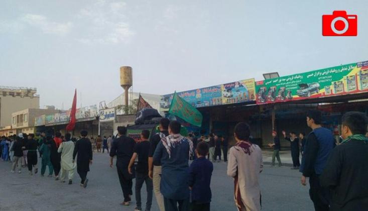 Afganistan Mezar-ı Şerif'te Aşura Merasimi